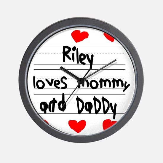 Riley Loves Mommy and Daddy Wall Clock