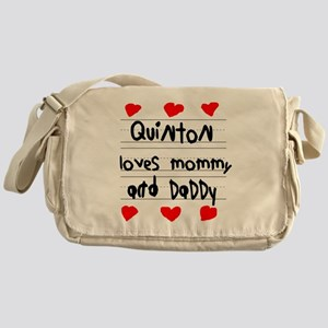 Quinton Loves Mommy and Daddy Messenger Bag