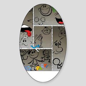 Mood Swings Sticker (Oval)