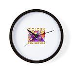 Golden Rectangle Wall Clock