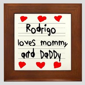 Rodrigo Loves Mommy and Daddy Framed Tile