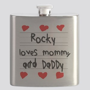 Rocky Loves Mommy and Daddy Flask
