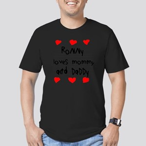 Ronny Loves Mommy and  Men's Fitted T-Shirt (dark)