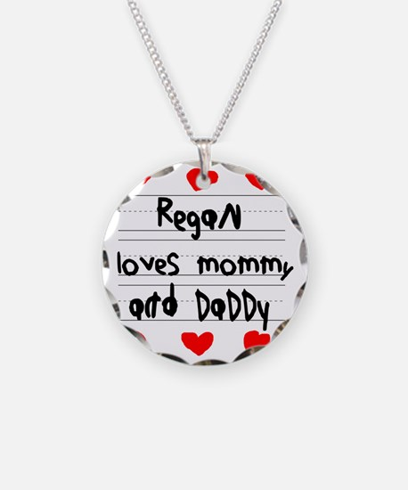 Regan Loves Mommy and Daddy Necklace
