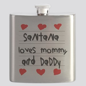 Santana Loves Mommy and Daddy Flask