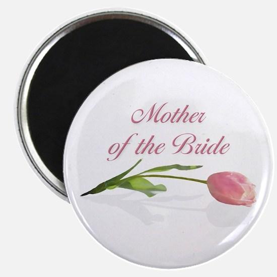 "Pink Tulip Mother of Bride 2.25"" Magnet (10 pack)"