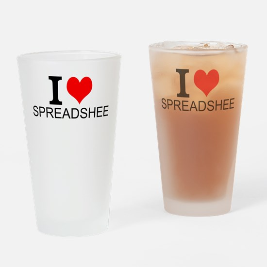 I Love Spreadsheets Drinking Glass