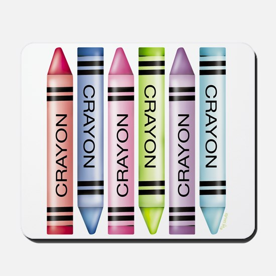 Six Crayons Mousepad