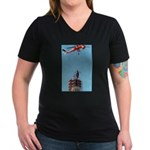 Return of Freedom Women's V-Neck Dark T-Shirt