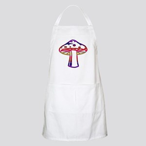 Rainbow Color Mushroom BBQ Apron