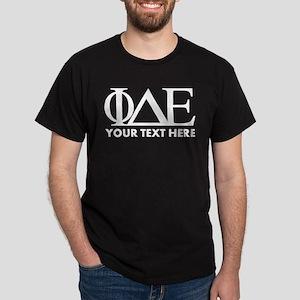 Phi Delta Epsilon Letters Personalize Dark T-Shirt