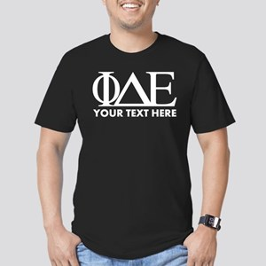 Phi Delta Epsilon Lett Men's Fitted T-Shirt (dark)
