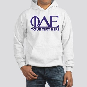 Phi Delta Epsilon Letters Person Hooded Sweatshirt