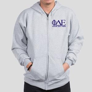 Phi Delta Epsilon Letters Personalized Zip Hoodie