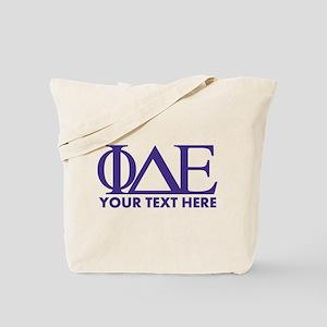 Phi Delta Epsilon Letters Personalized Tote Bag