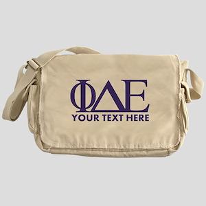 Phi Delta Epsilon Letters Personaliz Messenger Bag