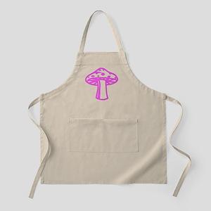 Hot Pink Mushroom BBQ Apron