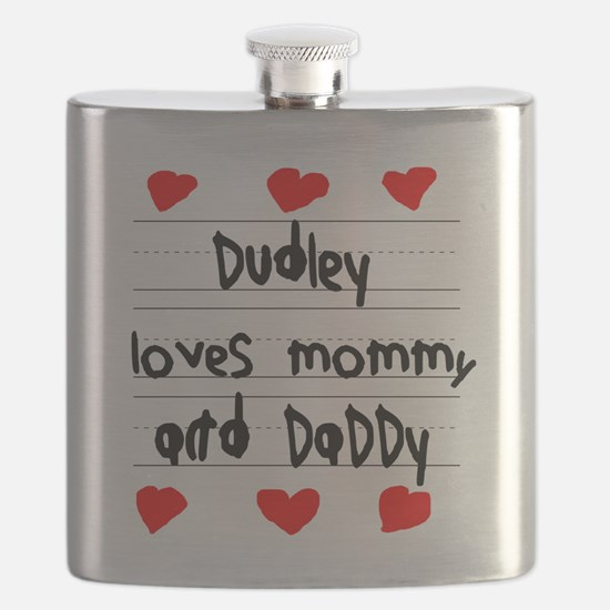 Dudley Loves Mommy and Daddy Flask