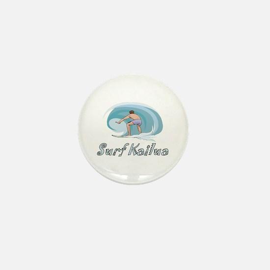 Surf Kailua, Hawaii Mini Button