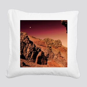Martian landscape Square Canvas Pillow