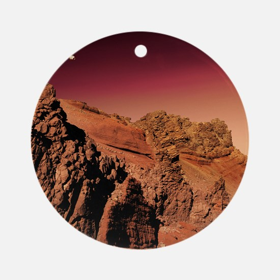 Martian landscape Round Ornament