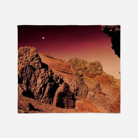 Martian landscape Throw Blanket