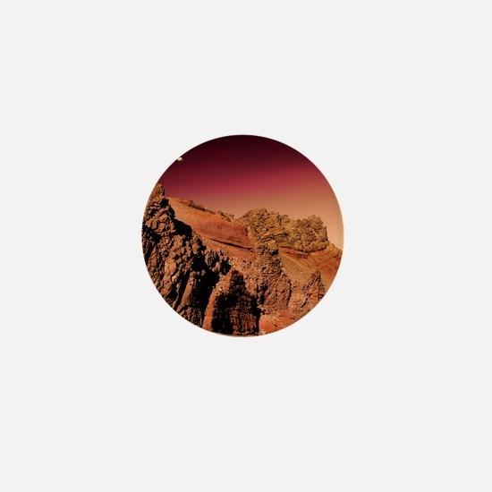 Martian landscape Mini Button