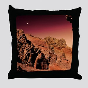 Martian landscape Throw Pillow