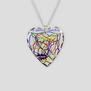 The Gender Spectrum Necklace Heart Charm