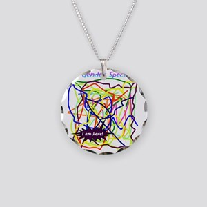 The Gender Spectrum Necklace Circle Charm