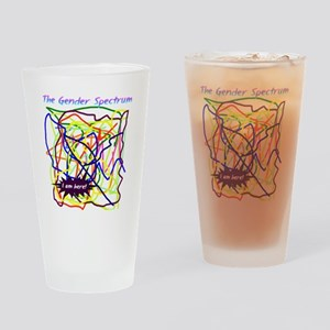 The Gender Spectrum Drinking Glass