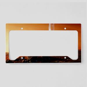 Mars exploration License Plate Holder
