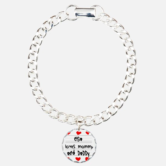 Elsa Loves Mommy and Dad Charm Bracelet, One Charm