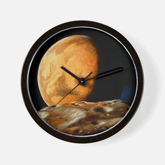 Mars seen from Deimos Wall Clock