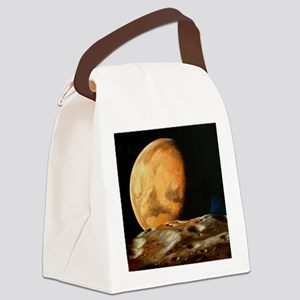 Mars seen from Deimos Canvas Lunch Bag