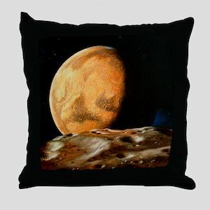 Mars seen from Deimos Throw Pillow