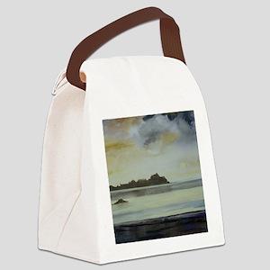 Winter Sky over Elizabeth Castle, Canvas Lunch Bag
