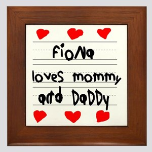 Fiona Loves Mommy and Daddy Framed Tile