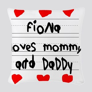 Fiona Loves Mommy and Daddy Woven Throw Pillow