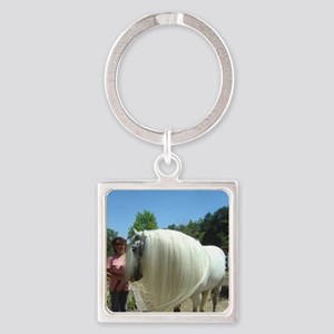 Deb  Cinders Square Keychain