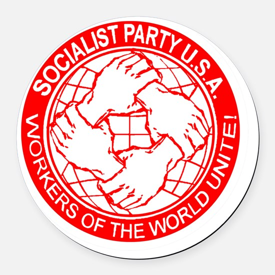 Socialist Party USA logo Round Car Magnet