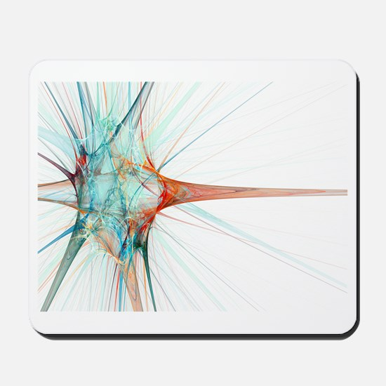 Nerve cell, abstract artwork Mousepad