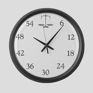 lawyerclock12-3 Large Wall Clock