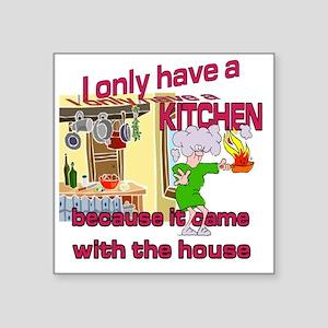 """kitchen Square Sticker 3"""" x 3"""""""