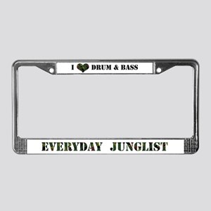 Everyday Junglist License Plate Frame