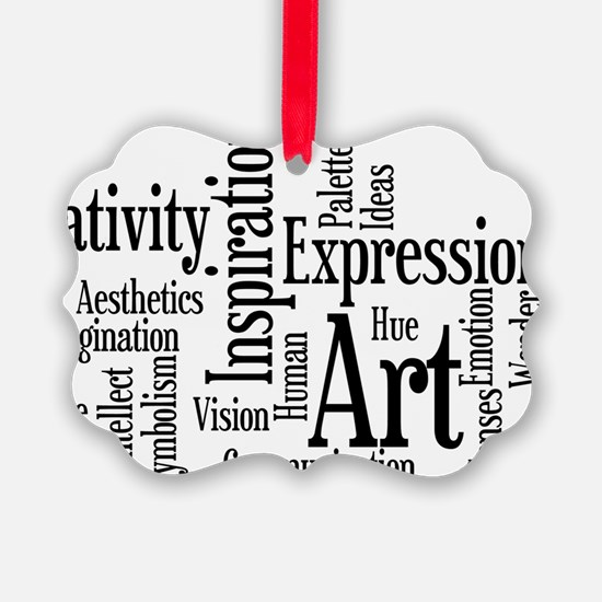 Art Word Cloud Ornament