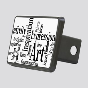 Art Word Cloud Rectangular Hitch Cover