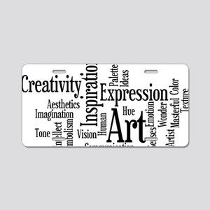 Art Word Cloud Aluminum License Plate
