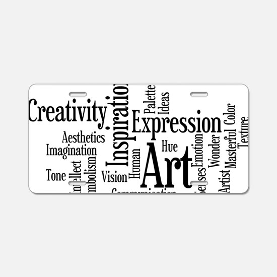 Art Word Cloud Aluminum License Plate