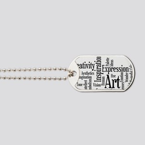 Art Word Cloud Dog Tags